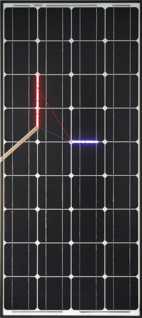 Haroon Mirza, Solar Powered LED Circuit Composition 3, 2014