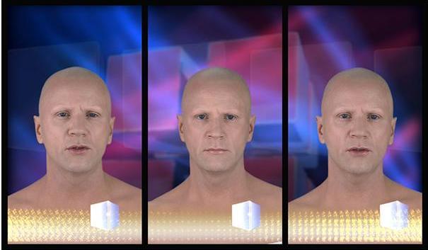 Bjørn Melhus, Deadly Storms, 2008, 3 Channel Installation for 3 vertical Flat Screens, HD Video, 7 min., Video Still