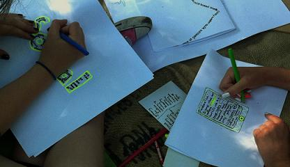 Concrete Poetry, Rhona Byrne workshop, Helio Oiticia exhibition, Summer 2014