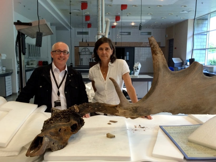 Nigel Monaghan, Keeper, Natural History Division, NMI, and Dorothy Cross in one of the National Museum's conservation areas.