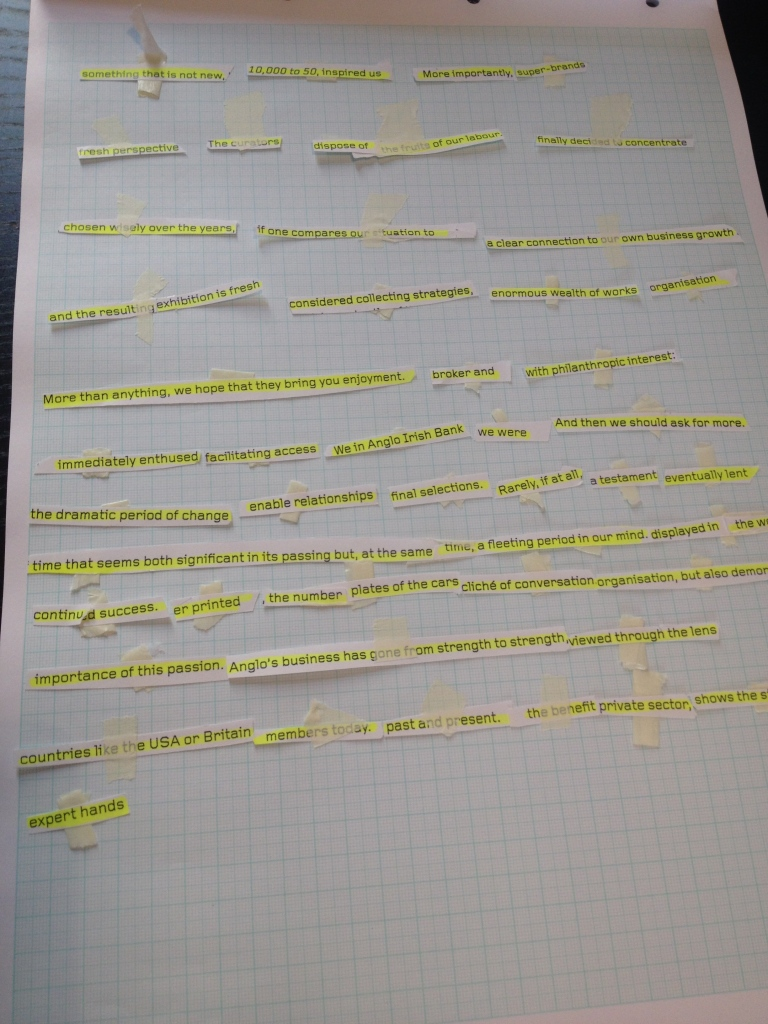 Cut-up script in progress