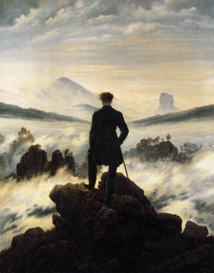 Caspar_David_Friedrich_ Wanderer above the sea of fog, 1818