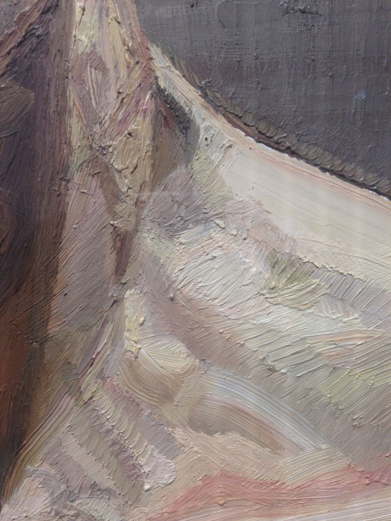 Details image from Reflection (Self-Protrait), Oil on canvas, 56.2x51.2cm, 1985, Private Collection
